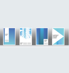 Blue exotic cover set vector