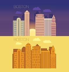 Boston flat building city vector