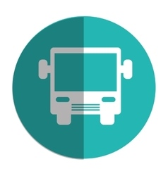 Bus transport silhouette icon vector
