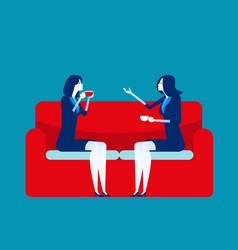 Business people meeting talking concept business vector