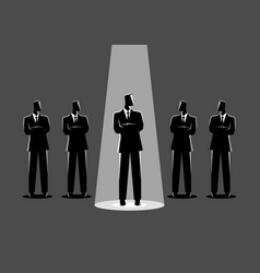 Businessman being spotlighted vector