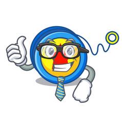 Businessman yoyo character cartoon style vector