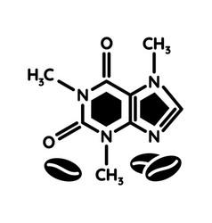 Caffeine black glyph icon vector