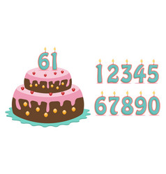 cake with numbers vector image