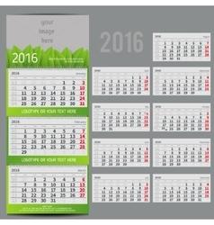 calendar 2016 - Planner vector image