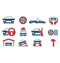 Car service maintenance icon set vector image