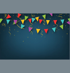 carnival garland with pennants decorative vector image