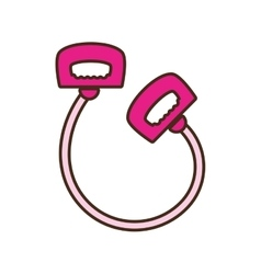 Cartoon pink jump rope handle sport vector
