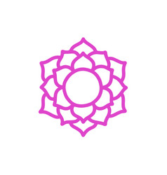 Chakra sahasrara doodle icon color vector