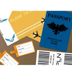 check-in vector image