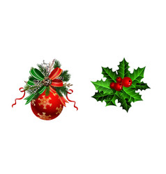 Christmas festive decoration from christmas tree vector