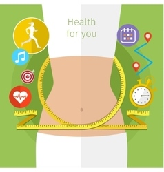 Concept for keeping fit vector image