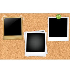 Cork Board With Photos vector
