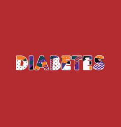 Diabetes concept word art vector