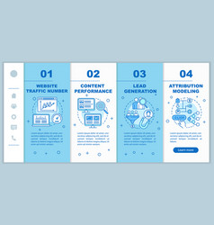 Digital marketing benefits onboarding mobile web vector