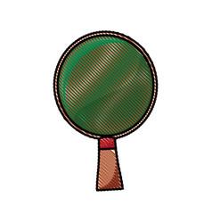 Drawing racket ping pong wooden image vector