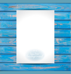 empty paper on the wooden vintage background vector image