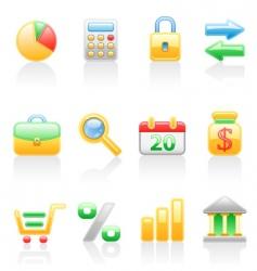 Finance icon set vector