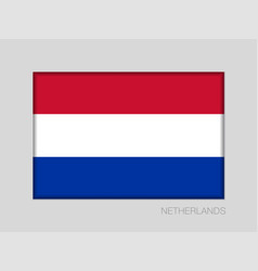 Flag of netherlands national ensign aspect ratio vector