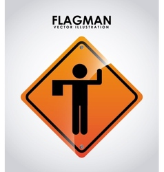 Flagman design vector