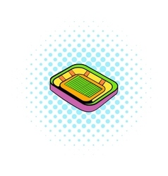 Football stadium icon comics style vector