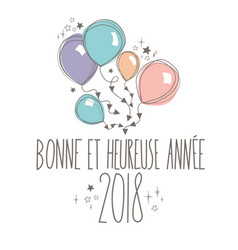 french happy new year card vector image