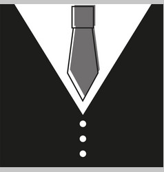 Gentelman the bow tie - black background vector