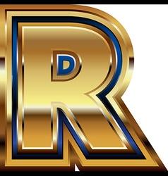 Golden Font Letter R vector
