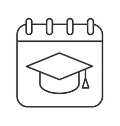 graduation date linear icon vector image