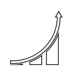 graph black color icon vector image