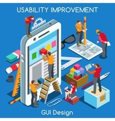 GUI design 02 People Isometric vector