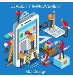 GUI design 02 People Isometric vector image