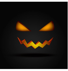 halloween scary illuminated face in the dark vector image