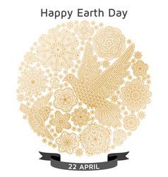 Happy earth day background good design template vector