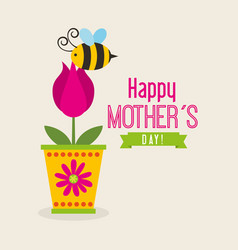 Happy mothers day celebration card vector