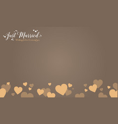 Happy wedding card graphic style vector