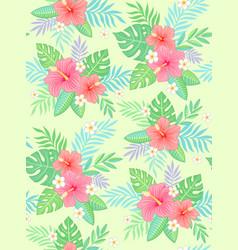 hibiscus tropic pattern vector image