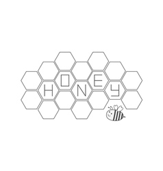 Honeycomb set Bee insect animal Beehive element vector image