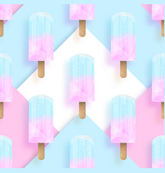 ice cream popsicles pastel colors seamless pattern vector image