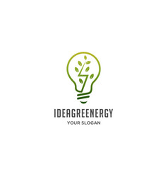 idea green energy logo vector image