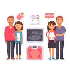 Infertility pregnancy problems medical maternity vector