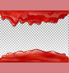jam red flow drops 3d vector image