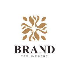 luxury golden logo and icon design vector image