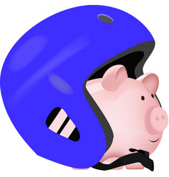 Mail-shaped deposit with protective helmet vector
