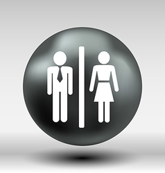 Man Woman restroom sign icon button logo symbol vector image