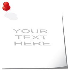 memo pad vector image