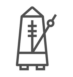 Metronome line icon musical and tempo vector