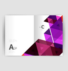 Modern business brochure or leaflet print cover vector
