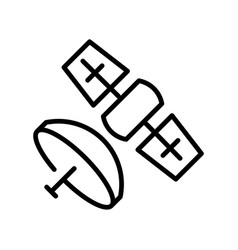 monochrome spacecraft satellite with broadcasting vector image