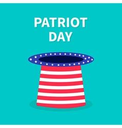 Patriot day hat Flat design vector